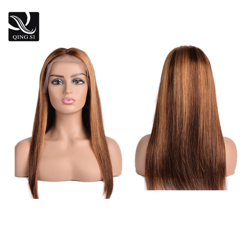 Honey Blonde Wig Ombre 100% Human Hair Wig13x4 Lace Front Human Hair Wigs Straight Brazilian Remy Lace Frontal Wig For Women