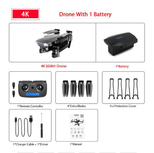 Drone with Wifi FPV 1080P 4K HD Dual Camera Optical Flow RC Quadcopter Follow Me Mini RC Drone VS DJI MAVIC 2 PRO AIR E520S