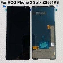 "6.59 ""Original Amoled Für Asus ROG Telefon 3 ZS661KS LCD Display Bildschirm + Touch Panel Digitizer Für ROG Telefon 3 Strix ASUS_I003DD"