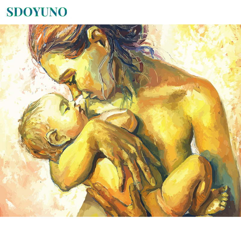 SDOYUNO 60x75cm Painting By Numbers DIY Oil Pictures By Numbers For Adults Digital Canvas Painting For Home Decoration Gift