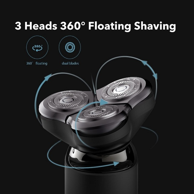 Xiaomi Mijia Electric Shaver Razor Shaving Beard Machine for Men Dry Wet Beard Trimmer Rechargeable washable 3D head Dual Blades 3