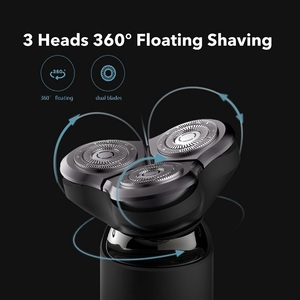 Image 3 - Xiaomi Mijia Electric Shaver Razor Shaving Beard Machine for Men Dry Wet Beard Trimmer Rechargeable washable 3D head Dual Blades
