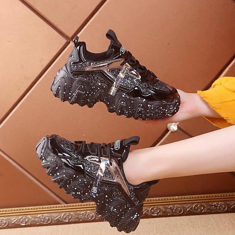 ออกแบบใหม่ Chunky รองเท้าผ้าใบผู้หญิงที่มีสีสันพ่อรองเท้าผ้าใบแฟชั่นรองเท้าลำลองรองเท้าผู้หญิง Comfort chaussures Femme 7