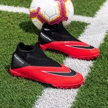 Outdoor Soccer Shoes Men Futsal Kids Football Shoes Turf Traing Sneakers Waterproof Sport Shoes Lightweight FG AG Soccer Cleats