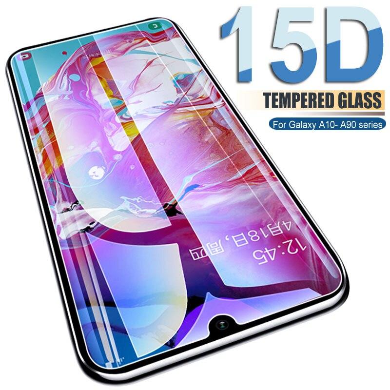 15D Защитное стекло для Samsung Galaxy A10 A30 A50 A70 A10S A20E A20S A30S A40S протектор экрана A50S A70S M10S M30S стеклянная пленка
