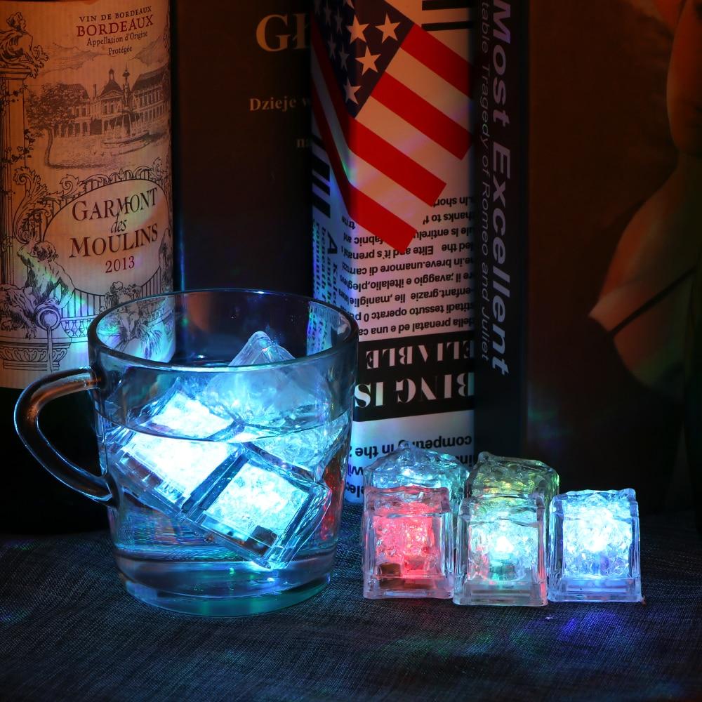 LED Ice Cubes Glowing Party Ball Flashlight Luminous Neon Wedding Festival Christmas Bar Wine Glass Decoration Supplies