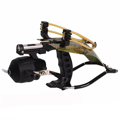 alta qualidade de pesca conjunto dardo a laser ao ar livre slingshot com carretel de