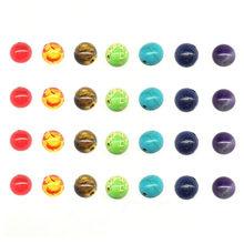 7 Chakra – perles rondes en pierre naturelle, 8mm, Bracelet en œil de tigre, breloques amples pour bricolage, matériaux de fabrication de bijoux faits à la main