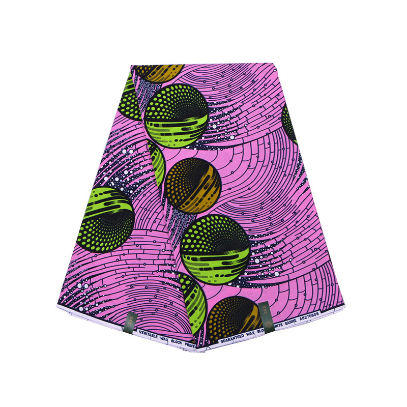 Ankara 2019 100% Cotton High Quality Fabric Wax Print 6 Yards African Dutch Wax Fabric