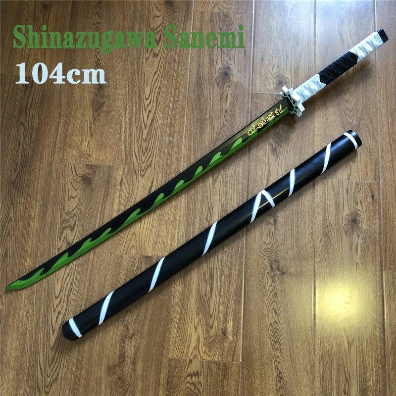 Kimetsu No Yaiba Sword Weapon Demon Slayer Cosplay Shinazugawa Sanemi Kochou Shinobu Samurai Sword Katana Ninja Knife Toy