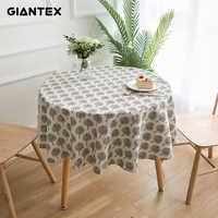 GIANTEX Dekorative Tisch Tuch Baumwolle Leinen Tischdecke Runde Tischdecken Esstisch Abdeckung Obrus Tafelkleed kaminsims mesa nappe