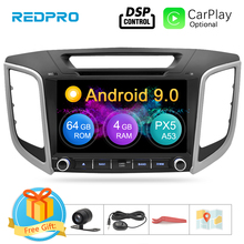 "9"" IPS Screen Android 9.0 Car DVD Player For Hyundai ix25 Creta 2014 2018 Stereo 2 Din Video GPS Navigation Radio FM Multimedia"