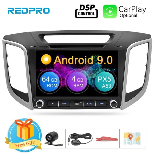 """9 """"IPS écran Android 9.0 lecteur DVD de voiture pour Hyundai ix25 Creta 2014 2018 stéréo 2 Din vidéo GPS Navigation Radio FM multimédia"""