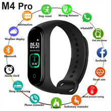M4 Pro Smart Band Thermometer Neue M4 Band Fitness Tracker Herzfrequenz Blutdruck Fitness Armband Smart uhr Für Android IOS(China)