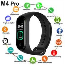 Новый смарт браслет M4 Pro с термометром, фитнес трекер, пульсометр, кровяное давление, фитнес браслет, Смарт часы для Android и IOS