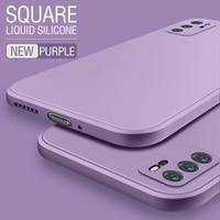 Cuadrado líquido de silicona caso para Samsung Galaxy S8 S9 S10 Lite S20 Plus Nota 9 10 20 A21S A52 A31 A41 A71 A51 A72 A70 A50 Coque