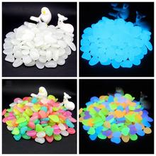 100 200 300 sztuk świecące w ciemności kamienie świecące kamienie fluorescencyjne jasne kamyki świecące kamienie do dekoracji ogrodu tanie tanio Fluorescent Artificial stone Żywica 2-3CM Multicolor white light blue green yellow pink(optional) Can be used repeatedly