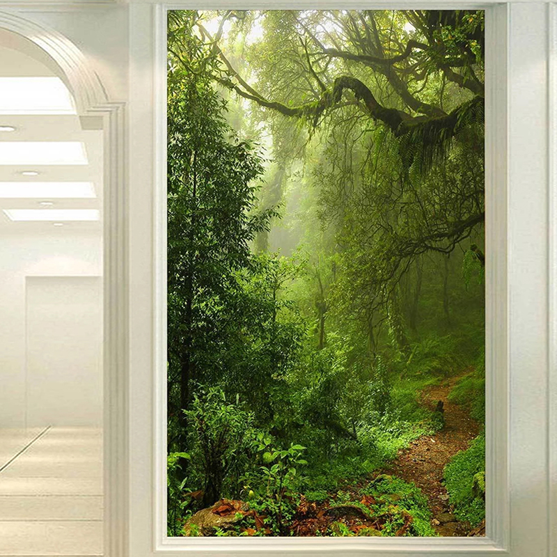 Green Forest Landscape Custom 3D Photo Wallpaper Living Room Entrance Background Home Decor Wall Painting Papier Peint Mural 3D