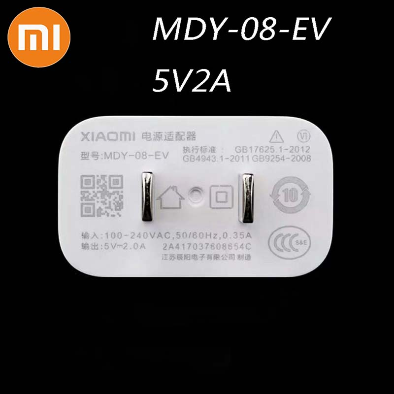 MDY-08-EV Original Xiaomi USB Charger 5V/2A Adapter Micro USB Data Cable For Mi 4 Redmi S2 4 4A 5 5A 6 6A Note 3 Pro 4x