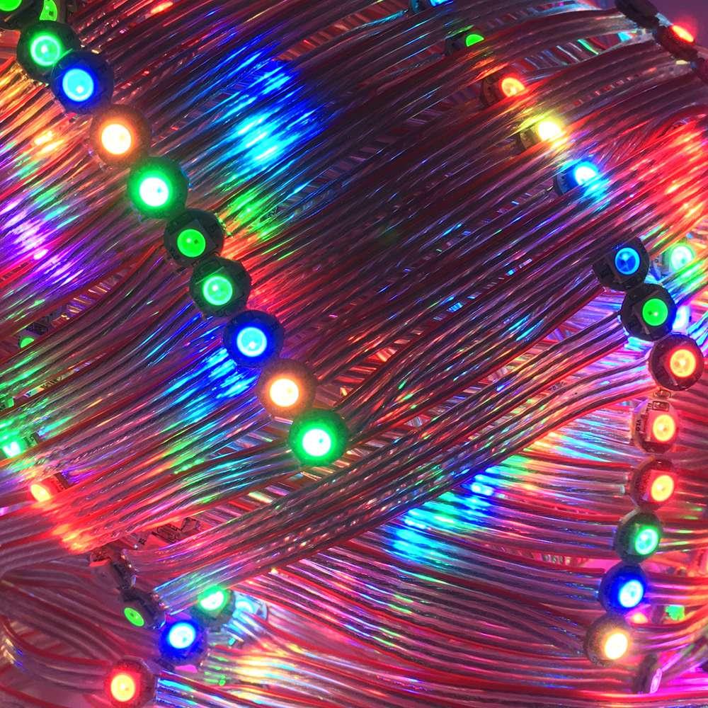 10/25/50 светодиодный s/Коллона WS2812B предплатные Пиксели RGB светодиодный модуль узлы с радиатором доска прибор приемно-индивидуально DC5V