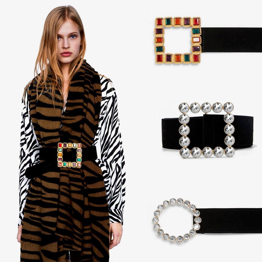 Fashion Women Lady Girl Skinny Waist Belt Thin Buckle Narrow Waistband Decor ZXX