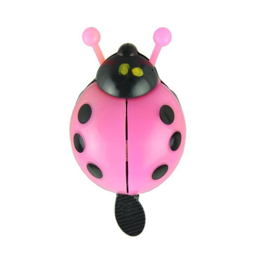 1PCS Kid Bike Bicycle Bell Ring Lovely Beetle Mini Cartoon Ladybug Ring Bell Cycling Equipment Bike Accessories