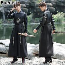 Hanfu robe chinês traje de dança nacional oriental espadachim outfit han dinastia cosplay roupas antiga dança palco desempenho