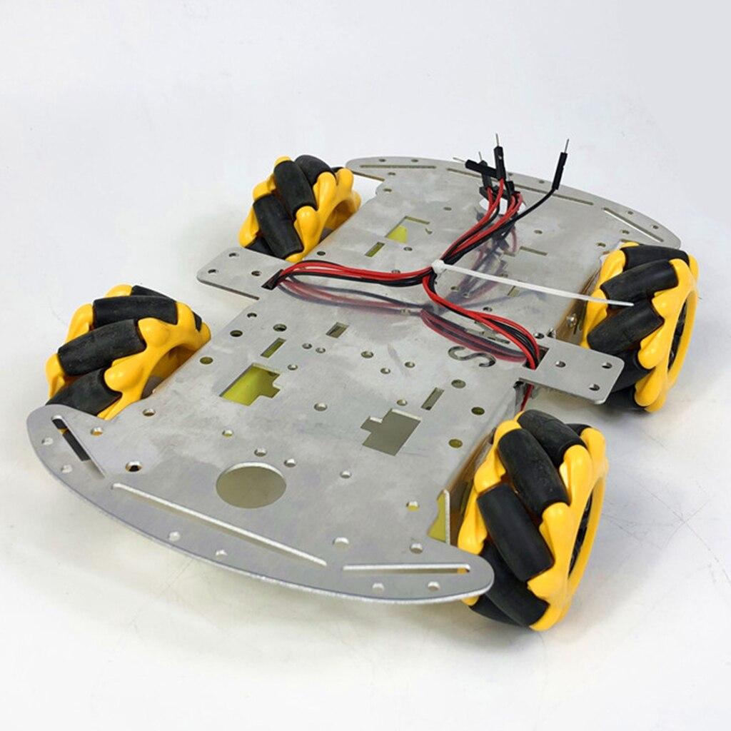Kit de Robot de roue Mecanum 4WD roues omnidirectionnelles Kit de châssis de voiture Robot intelligent