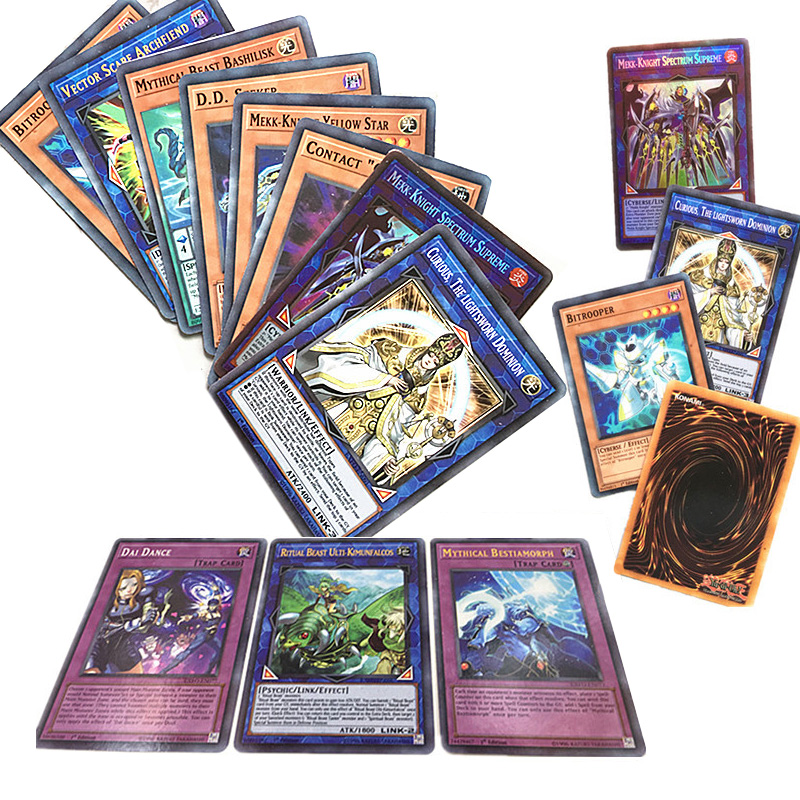 New 288pcs Yu Gi Oh Trading Card Game English High Quality Table Card Bling Bling Children Play Cards Yugioh Collections