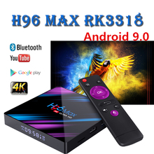 Newest smart tv box android 9.0 H96 MAX RK3318 4GB 32GB 64GB Quad-Core Cortex-A53 2.4/5GWIFI 4k BT4.0 set top