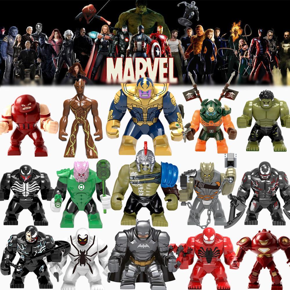 Stan Lee Police Marvel Avangers Infinity War Thanos Super Heroes Building Blocks