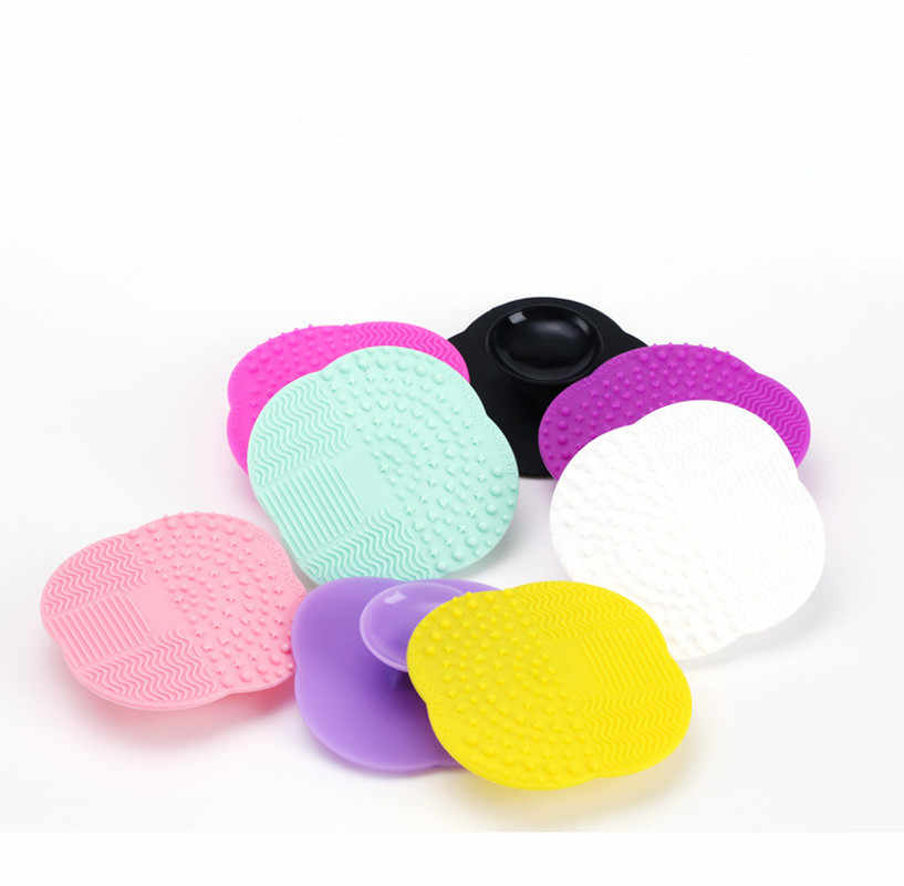 1 PC Silicone Cleaning Cosmetische Make Up Wassen Borstel Gel Cleaner Scrubber Tool Foundation Make-Up Reiniging Mat Pad Tool