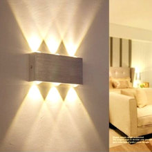 Dimmable 6W LED Wall Lamp Indoor Aluminum Wall Sconce Living room Stair Aisle Corridor Bedroom Bedside Decorate LED Wall Light retro chinese wall lamp wall sconce antique wood parchme stair aisle corridor bedroom living room cafe lamp e27 wall light bra