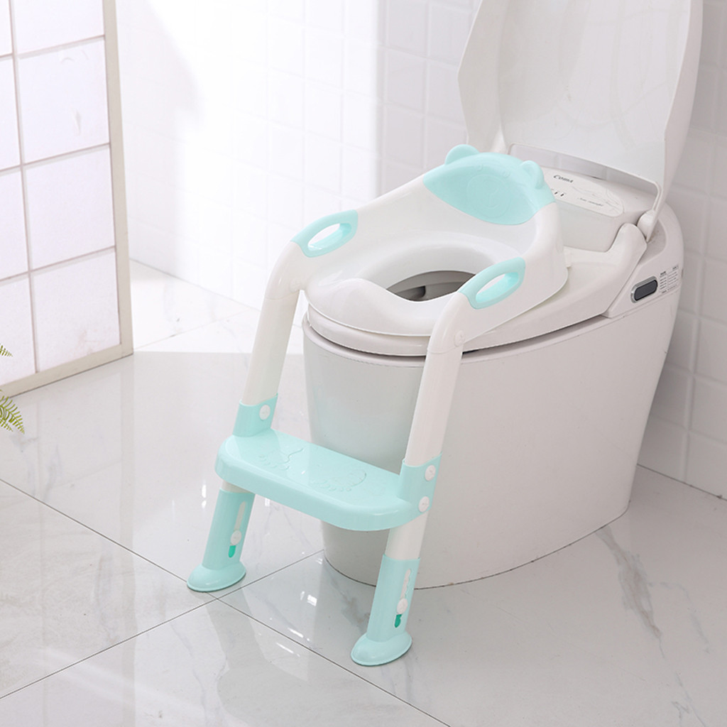 Baby Toilet Potty Training Toddler Baby Ladder Toilet Chair Kids Potty Trainer Adjustable Seat With Step Stool For Children N30