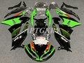 Инжекционного метода литья новое из АБС-пластика для мотоцикла обтекатель комплект подходит для Kawasaki Ninja ZX6R 636 2009 2010 2011 2012 ZX-6R 09-12 зеленого и ч...