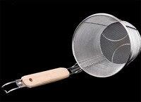 Panier à frites en acier inoxydable, passoire, pour boulettes de nouilles, égouttoir et séchoir à frites et légumes 3