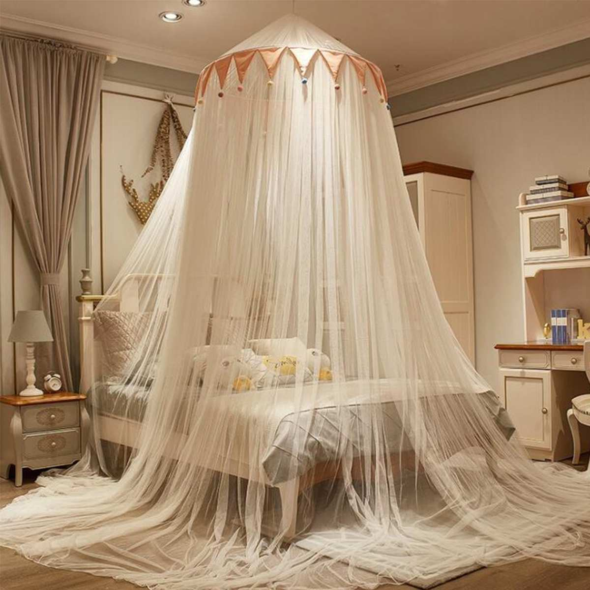 Bed Canopy Hung Mosquito Net Princess Bed Tent Curtain Foldable Canopy On The Bed Elegant Fairy Lace