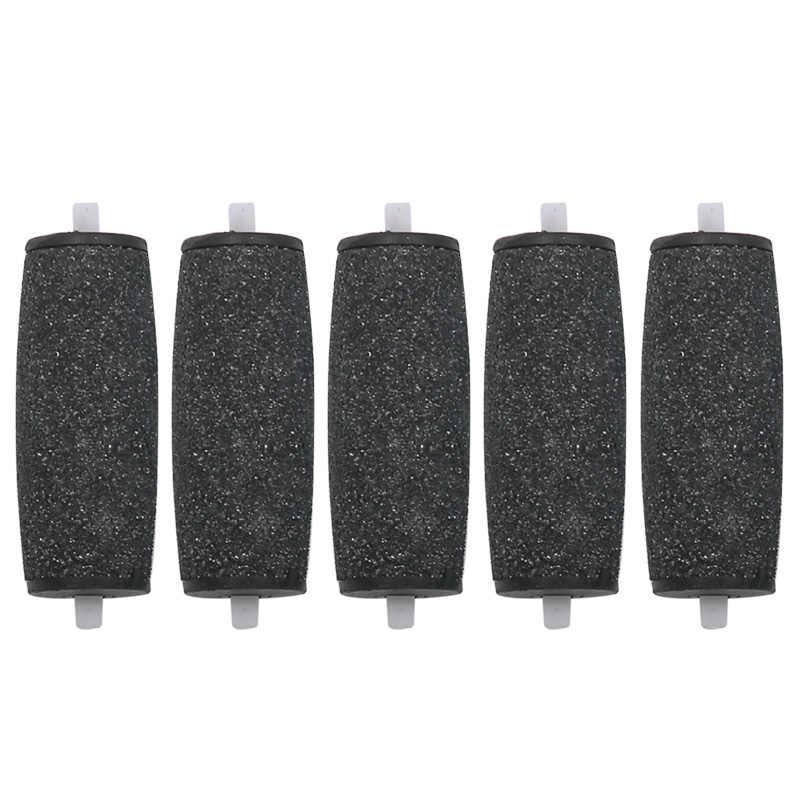 5 pçs/lote cabeças de rolo substituição para veludo suave elétrico pé arquivo pedicure máquina pele morta calo removedor pé ferramenta cuidados