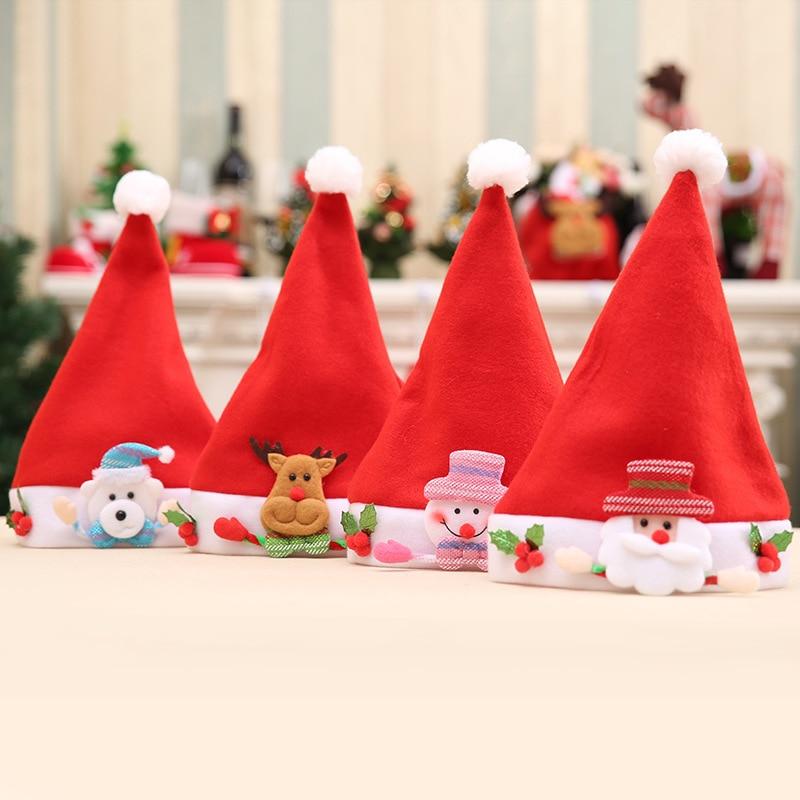 christmas hat gorro navidad новогодняя шапка kerstmuts renos de navidad con luces рождество czapka санты santa elf christmas cap in Christmas Hats from Home Garden