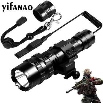 Tactical LED Flashlight with Remote Waterproof Scout Light Torch USB Rechargeable Flash Light for Outdoor Hunting Fishing 1