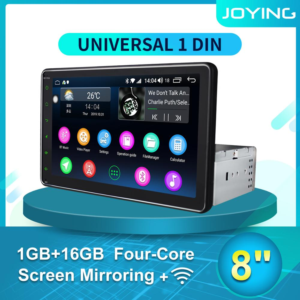 JOYING Auto Porduct 8'' Android Car Radio stereo Single 1 din Head Unit Multimedia NO DVD Player DVR Cassette Tape recorder TPMS image