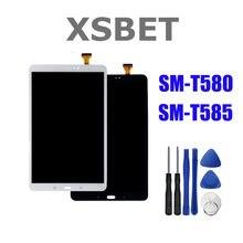Pantalla táctil LCD para teléfono móvil Samsung, repuesto para digitalizador de 10,1 pulgadas, material LCD con herramientas incluidas, compatible con Galaxy Tab A, modelo SM-T580 o SM-T585