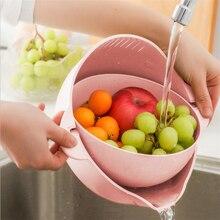 Двойной Слои сушить без отжима Еда Класс Пластик риса фильтр для мытья бобов, гороха ситечко корзина для фруктов сито крылом очистки гаджет