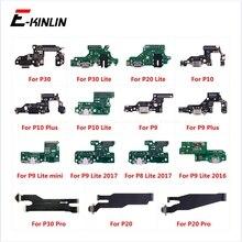 Lade Port Connector Board Teile Flex Kabel Mit Mikrofon Mic Für HuaWei P30 P20 Pro P10 P9 Plus Mini P8 lite 2017