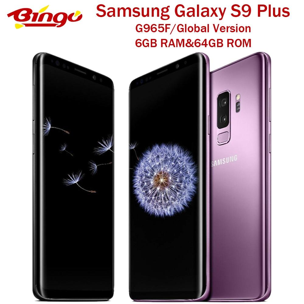 """Samsung Galaxy S9 + S9 más G965F Original 4G LTE teléfono móvil Android Octa Core 6,2 """"Dual 12MP y 8MP RAM 6GB ROM de 64G Exynos"""