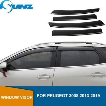 цена на Window Deflector Visor For PEUGEOT 3008 2013 2014 2015 2016 2017 2018 2019 Window Visors Sun Rain Deflector Guards SUNZ