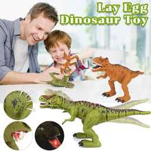 Large Size Electric Dinosaur Robot Toys Electric Walking Egg Laying Tyrannosaurus With Music Light Walk Sounds Model Toys Kids(China)