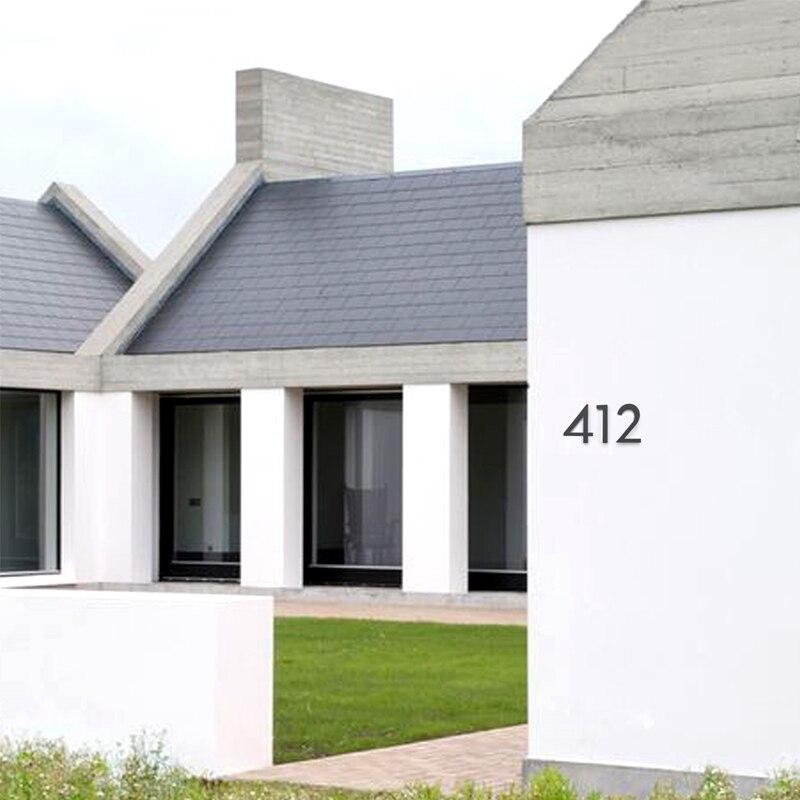 Большой черный дом с цифрами, плавающий знак, 15 см, современные дверные цифры, строительные вывески, уличные Адресные таблички с цифрами