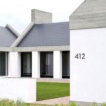 Duża czarno numer domu pływający znak 15cm nowoczesne numery drzwi budynek Signage odkryty Huisnummer Numeros Casa adres tablicy