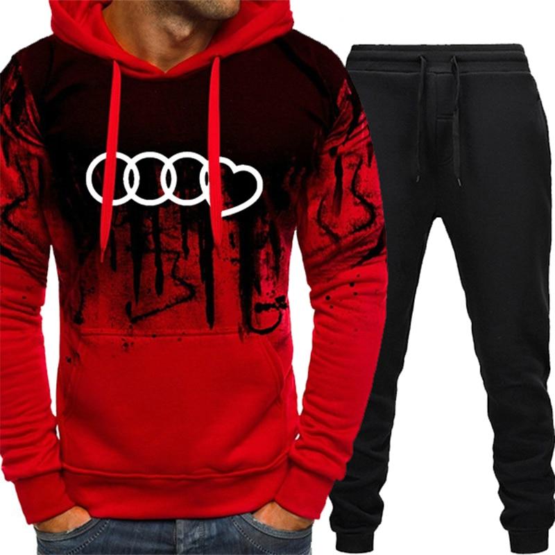 Newset Backwoods Tracksuit Hoodie /& Pants Sportswear Sweatshirt Suits Men set